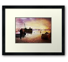 As evening falls... Framed Print
