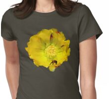 Bee Prepares (Cactus Flower) Womens Fitted T-Shirt