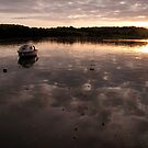 Sunset at malpas cornwall by Simon Marsden