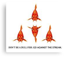 Koi Fish Pattern & Slogan Canvas Print