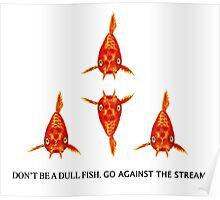 Koi Fish Pattern & Slogan Poster