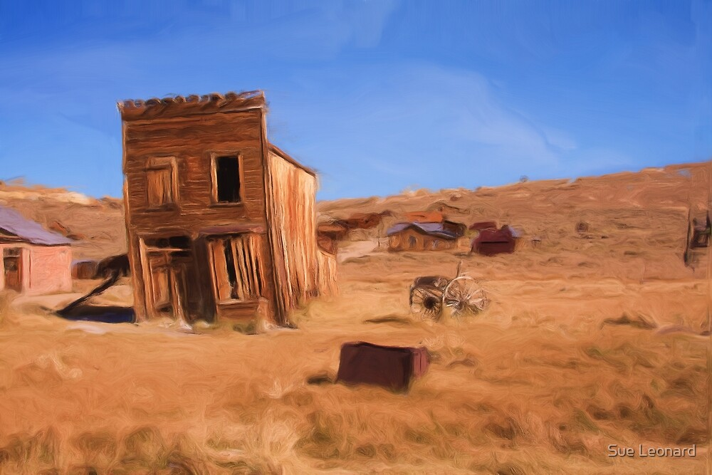 Californian Ghost Town as a pseudo oil painting by Sue Leonard