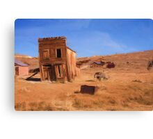 Californian Ghost Town as a pseudo oil painting Canvas Print