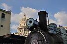 Old steam train & Capitolio, Cuba by David Carton