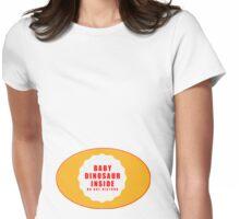 Baby Dinosaur Inside T shirt Womens Fitted T-Shirt