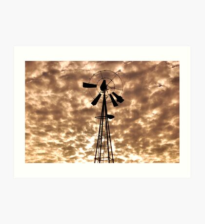 Silhouetted Against Cloudy Skies. Art Print