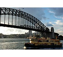 as the lady herron cuts its way to circular quay Photographic Print