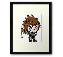 Sora chibi Framed Print