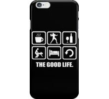 Coffee Football Wine Sex Sleep Repeat The Good Life iPhone Case/Skin