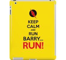 RUN BARRY RUN (The Reverse)! iPad Case/Skin