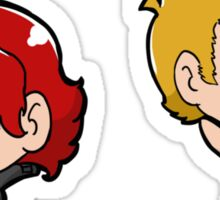 Clint and Natasha Sticker