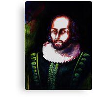 Shakespeare's Portrait Canvas Print