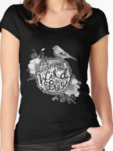 """Thoreau"" Your Life Away Women's Fitted Scoop T-Shirt"