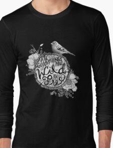"""Thoreau"" Your Life Away Long Sleeve T-Shirt"