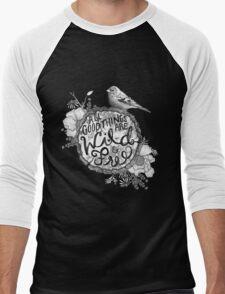 """Thoreau"" Your Life Away Men's Baseball ¾ T-Shirt"