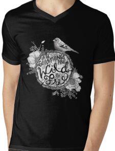 """""""Thoreau"""" Your Life Away Mens V-Neck T-Shirt"""