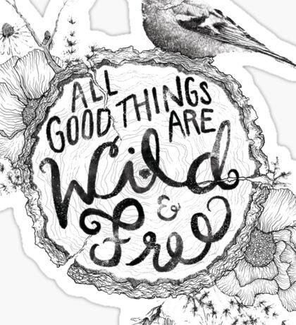 """Thoreau"" Your Life Away Sticker"
