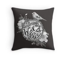 """Thoreau"" Your Life Away Throw Pillow"