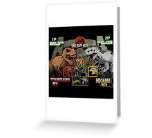 Dino Death Match Greeting Card