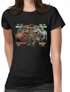 Dino Death Match Womens Fitted T-Shirt