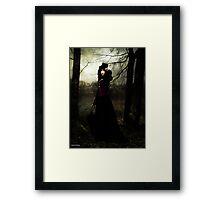 a vampires walk  Framed Print