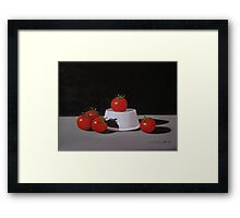 5 Tomatoes In The Spotlight Framed Print