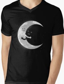 Moon Hug Mens V-Neck T-Shirt