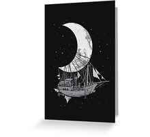 Moon Ship Greeting Card