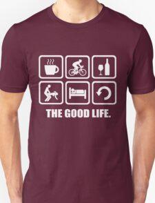 Coffee Cycling Wine Sex Sleep Repeat The Good Life T-Shirt