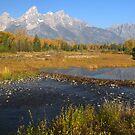 The Tetons In Autumn by Stephen Vecchiotti