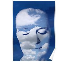 Head in the Clouds - meditating Poster