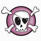 Girly Pirate Skull by Kelly Pierce