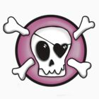 Girly Pirate Skull by blackjack