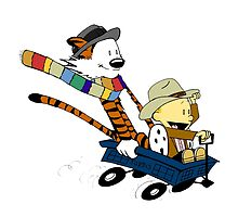 calvin and hobbes meets tardis go by bagasbeside