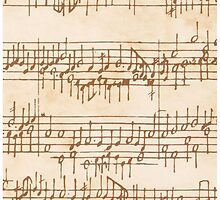 Antique Manuscript Musical Score by Pixelchicken