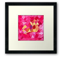 Brink Pink Abstract Low Polygon Background Framed Print