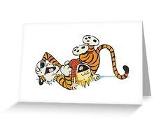 calvin and hobbes rotfl Greeting Card