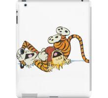 calvin and hobbes rotfl iPad Case/Skin
