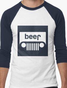 speed bump ahead,dont spill your beer! Men's Baseball ¾ T-Shirt
