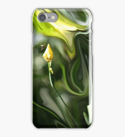 Abstract Insect on Yellow Flower iPhone Case/Skin