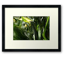 Abstract Insect on Yellow Flower Framed Print