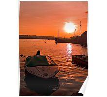 Sunset over Topsham Poster