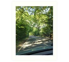 Countryside driving Art Print