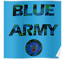 Blue army Poster