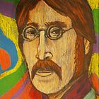 A psychedelic take on John Lennon by JSchultz