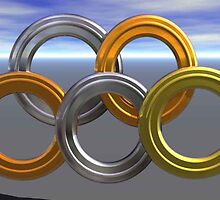 Olympic Rings, Gold, Silver and Bronze by MaeBelle