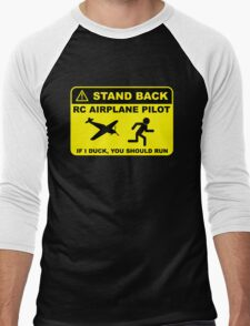 RC Airplane Pilot - Stand Back Men's Baseball ¾ T-Shirt