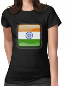 Indian Flag, Icon, India Womens Fitted T-Shirt