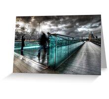 Millenium Bridge re-visited Greeting Card