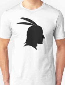 Native American Indian Man, Silhouette Unisex T-Shirt